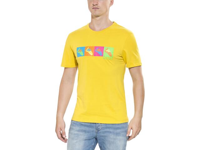 Ocun Pop Art Shoes - Camiseta manga corta Hombre - amarillo